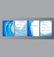 set of wavy abstract covers brochures vector image vector image