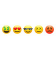 set rich dead angry thug life emoticon vector image vector image