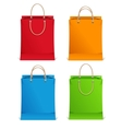 shopping bags orange blue green and red vector image