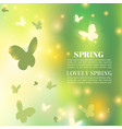 spring background bokeh design abstract vector image vector image