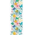 spring music symphony vertical seamless pattern vector image