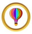 Striped multicolored aerostat balloon icon vector image