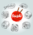 sushi menu sketch cover clip art vector image vector image