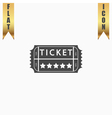 Vintage Ticket Icon on background vector image vector image