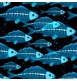 X-ray fish seamless vector image vector image