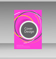 abstract line circle design brochure template vector image vector image