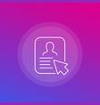 account profile icon line
