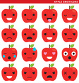 apple emoticons vector image vector image