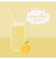 Apricot smoothie in jar on a table vector image