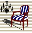 armchair and chandelier vector image vector image