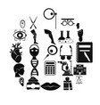 assay icons set simple style vector image vector image