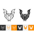 bat halloween simple black line icon vector image