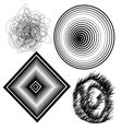 beautiful black and white abstract background vector image