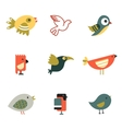 Birds Different Styles vector image vector image