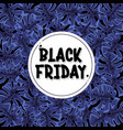 black friday banner leaves background vector image