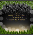 black merry xmas card with borders vector image