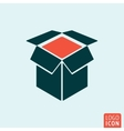 Box icon isolated vector image vector image