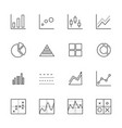 business graph icon set thin line icons vector image vector image