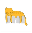Cat on the heating radiator vector image vector image