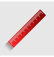 Centimeter ruler sign vector image vector image