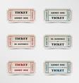 Collection vintage ticket vector image vector image