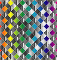 Colorful metal grid background vector image vector image