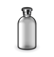 Cosmetic dark plastic bottle isolated vector image