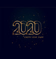 creative 2020 happy new year golden background vector image vector image