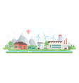 eco-friendly factory - modern flat design style vector image vector image