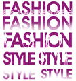 fashion sign vector image vector image