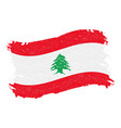 flag of lebanon grunge abstract brush stroke vector image vector image
