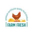 fresh farm local products farmer market food vector image