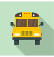 front of old school bus icon flat style vector image vector image