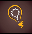 gear in yellow bulb vector image vector image