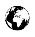 globe earth 06 vector image vector image