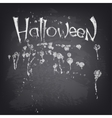 Halloween text design on chalkboard vector image vector image