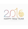 Happy New Yearwith monkey vector image