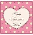 Happy Valentine day vintage vector image vector image