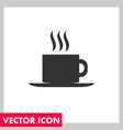 hot coffee icon vector image vector image