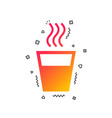 hot water sign icon hot drink symbol vector image