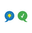 icon concept of two speech bubbles with glowing vector image