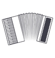 Isolated accordion instrument design vector image vector image
