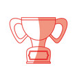 isolated cute trophy vector image