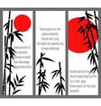 Japanese bamboo tree cards design or chinese bambu vector image vector image