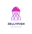 jelly fish logo icon vector image