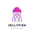 jelly fish logo icon vector image vector image