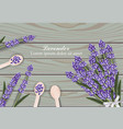 lavender flowers bouquet on wooden background vector image vector image