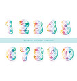 mermaid scale numbers for girls birthday design vector image vector image