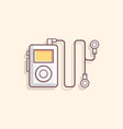 mp3 music player flat vector image vector image