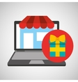 online store shopping gift graphic vector image